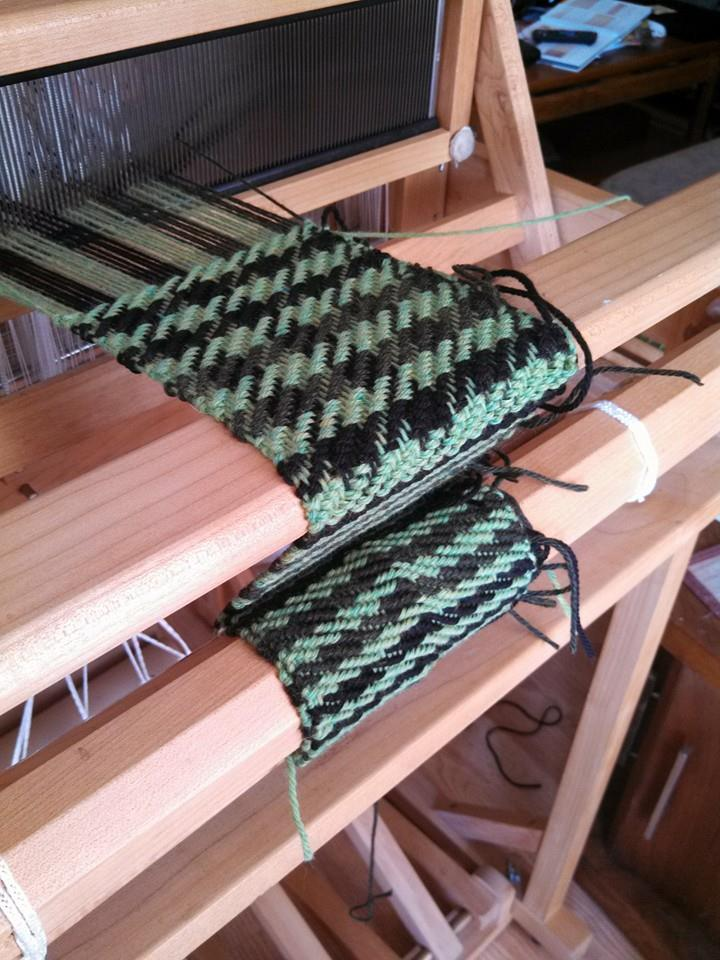 Off the new loom…broken houndstooth